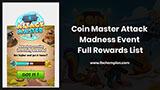 Coin Master Attack Madness Event Rewards List