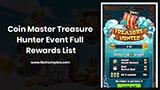Full Rewards List of Treasure Hunter Event in Coin Master